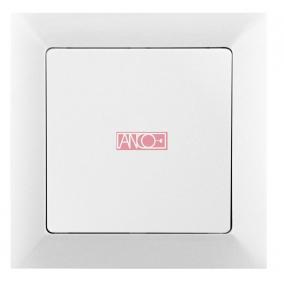 ANCO Premium keresztkapcsoló, keret nélkül, fehér