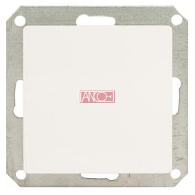 ANCO Premium nyomókapcsoló, keret nélkül, fehér