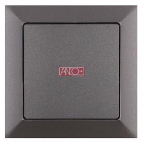 ANCO Premium nyomókapcsoló, keret nélkül, grafitszürke