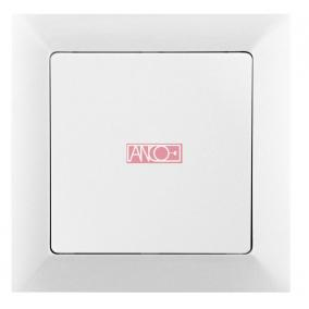 ANCO Premium váltókapcsoló kerettel, fehér