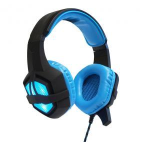 ART GAMING Fülhallgató mikrofonnal FLASH illuminate - kék