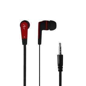 ART fülhallgató mikrofonnal S2C fekete-piros telefon/MP3/tablet