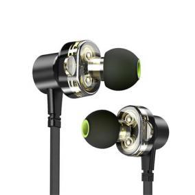 Fülhallgató, mikrofon, Bluetooth, dupla meghajtó, AWEI