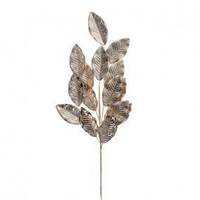 Ág bükkfa levéllel polyester 77 cm x 23 cm x 2 cm bronz