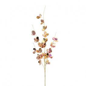 Ág hortenzia virággal polyester 69 cm x 13 cm x 4 cm rosegold