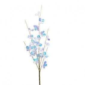 Ág hortenzia virággal polyester 69 cm x 13 cm x 4 cm színjátszó