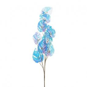 Ág scindapsus levéllel, gyönggyel polyester 70 cm x 10 cm x 2 cm színjátszó