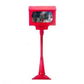 Amerikai postaláda havazós, elektromos műanyag 120cm Piros