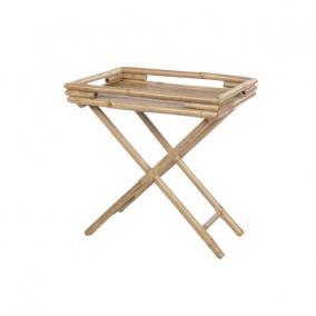 Asztal összecsukható bambusz 40x40x62cm natúr
