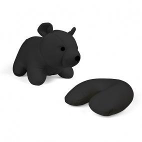 Nyakpárna, átalakítható, maci formájú, fekete