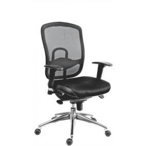 Főnöki szék, szövetborítás,fejtámla nélkül, hálós háttámla,