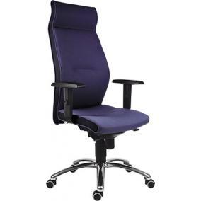 Főnöki szék,magas háttámlával,szövetborítás, alumínium lábkereszt,