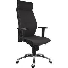 Főnöki szék, magas háttámlával, szövet, alumínium láb., 24 h,
