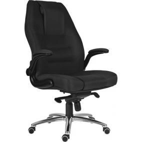 Főnöki szék, szövetborítás, króm lábkereszt, 24 h