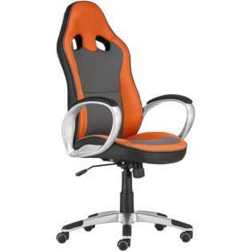 Főnöki szék, mesh és műbőr borítás, műanyag lábkereszt,