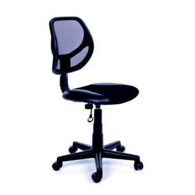 Irodai szék, fekete szövetborítás, feszített hálós háttámla, fekete lábkereszt, MAYAH