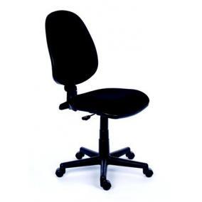 Irodai szék, fekete szövetborítás, fekete lábkereszt, MAYAH