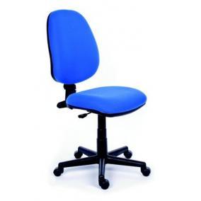 Irodai szék, kék szövetborítás, fekete lábkereszt, MAYAH