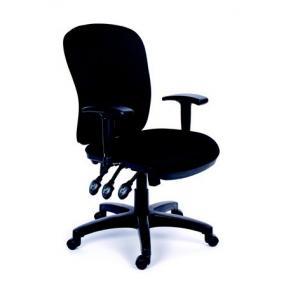 Irodai szék, állítható karfával, fekete gyöngyszövet-borítás, fekete lábkereszt, MAYAH