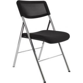 Összecsukható szék, fém és szövet, ALBA