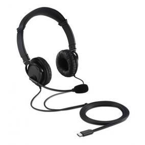 Fejhallgató, mikrofonnal, USB-C, KENSINGTON
