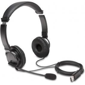 Fejhallgató, mikrofonnal, USB-A, KENSINGTON