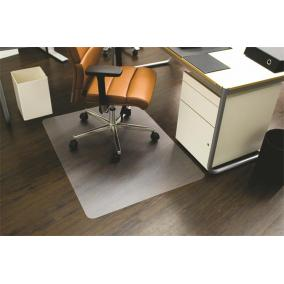 Székalátét, kemény felületre, E forma, 130x120 cm, RS OFFICE