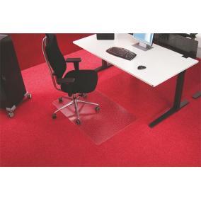 Székalátét, szőnyegre, E forma, 75x120 cm, RS OFFICE