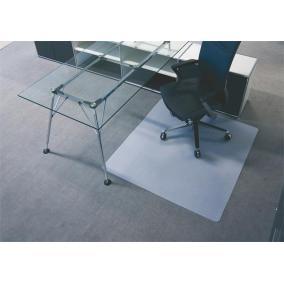 Székalátét, szőnyegre, E forma, 90x120 cm, BSM, áttetsző