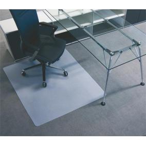 Székalátét, szőnyegre, E forma, 110x120 cm, BSM, áttetsző