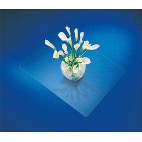 Székalátét, szőnyegre, E forma, 60x75 cm, RS OFFICE