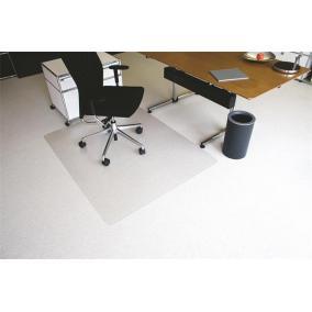 Székalátét, szőnyegre, E forma, 130x120 cm, RS OFFICE