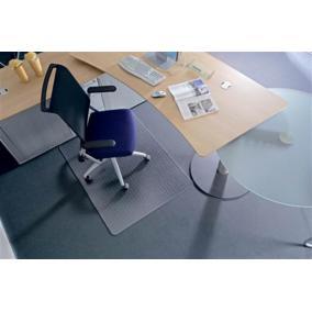 Székalátét, kemény felületre, E forma, 75x120 cm, RS OFFICE