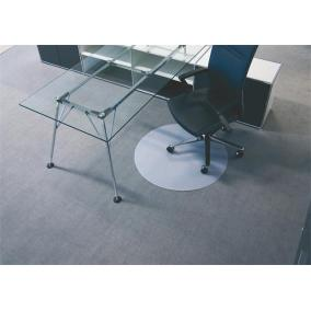 Székalátét, szőnyegre, kerek, 90 cm, átmérő, BSM, áttetsző