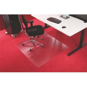 Székalátét, szőnyegre, E forma, 150x120 cm, RS OFFICE
