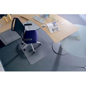 Székalátét, szőnyegre, E forma, 90x120 cm, RS OFFICE