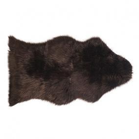 Báránybőr szőnyeg textil 85x150cm barna