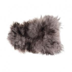 Báránybőr szőnyeg textil 90-100cm x 60-80cm barna,natúr