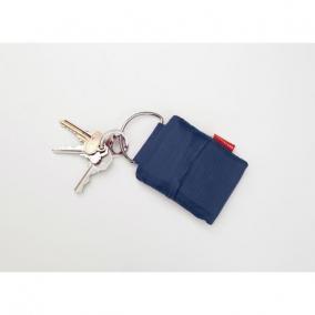 Bevásárló szatyor, kulcstartón hordozható, kék