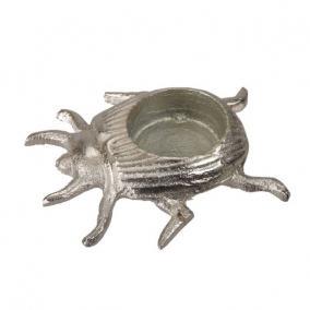Bogár mécsestartó alumínium 9cm x 10cm ezüst