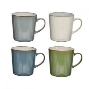 Bögre kerámia 3dl zöld,kék,fehér,türkiz 4 féle