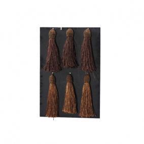 Bojt textil 14cm barna [6 db]