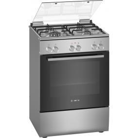 Bosch HXA090D50 Kombinált tűzhely - Serie2 - 60cm - 4 gázégő - 66 l sütőtér 3D
