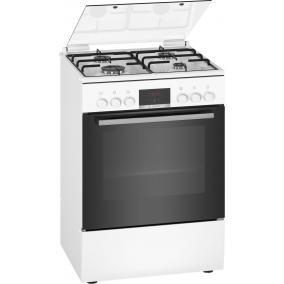 Bosch HXN390D20 Kombinált tűzhely - Serie2 - 60cm - 4 gázégő - 66 l sütőtér 3D