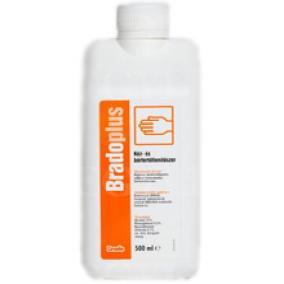 Fertőtlenítő Bradoplus színtelen kupakos 500 ml sebészi bemosakodó-és bőrfertőtlenítő
