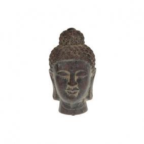 Buddha fej kerámia 12,5x22,5cm sötét barna