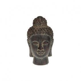 Buddha fej kerámia 17x30,5cm sötét barna