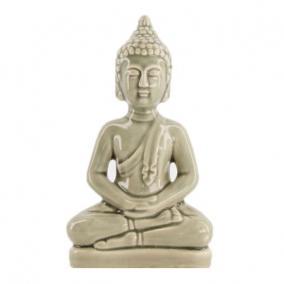 Buddha kerámia 11,5 cm x 6,5 cm x 20 cm szürke