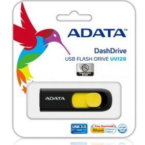 Adata USB Pendrive DashDrive UV128 16GB USB 3.0 Black+Yellow