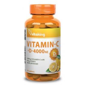 Vitaking Vitamin C-1000+D-4000 komplex tabletta [90 db]